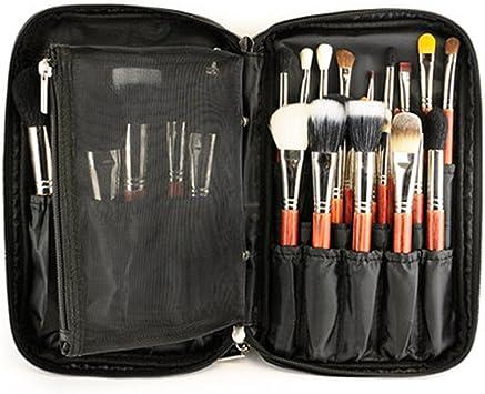 Estuche de maquillaje profesional con correa para cinturón, organizador de brochas de maquillaje, bolsa de maquillaje, bolso de mano para viaje y regalo para el hogar (negro): Amazon.es: Equipaje