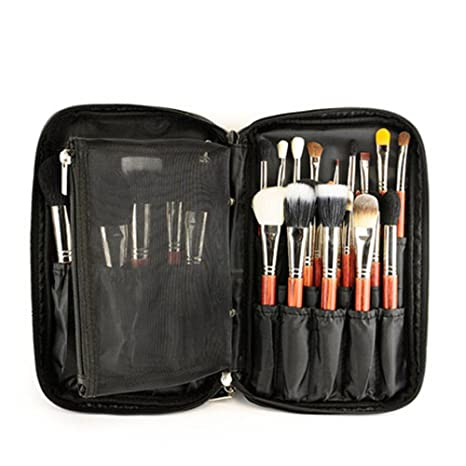 Estuche de maquillaje profesional con correa para cinturón, organizador de brochas de maquillaje, bolsa de maquillaje, bolso de mano para viaje y ...