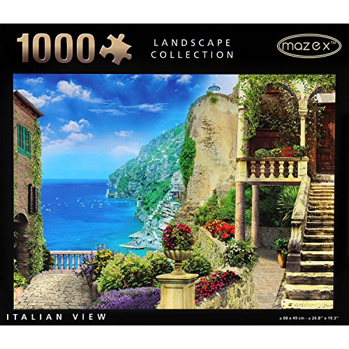 Italy Photograph - MAZEX Italian View 1000 Pieces Jigsaw Puzzle forAdults or Kids 26.8x19.3 inches