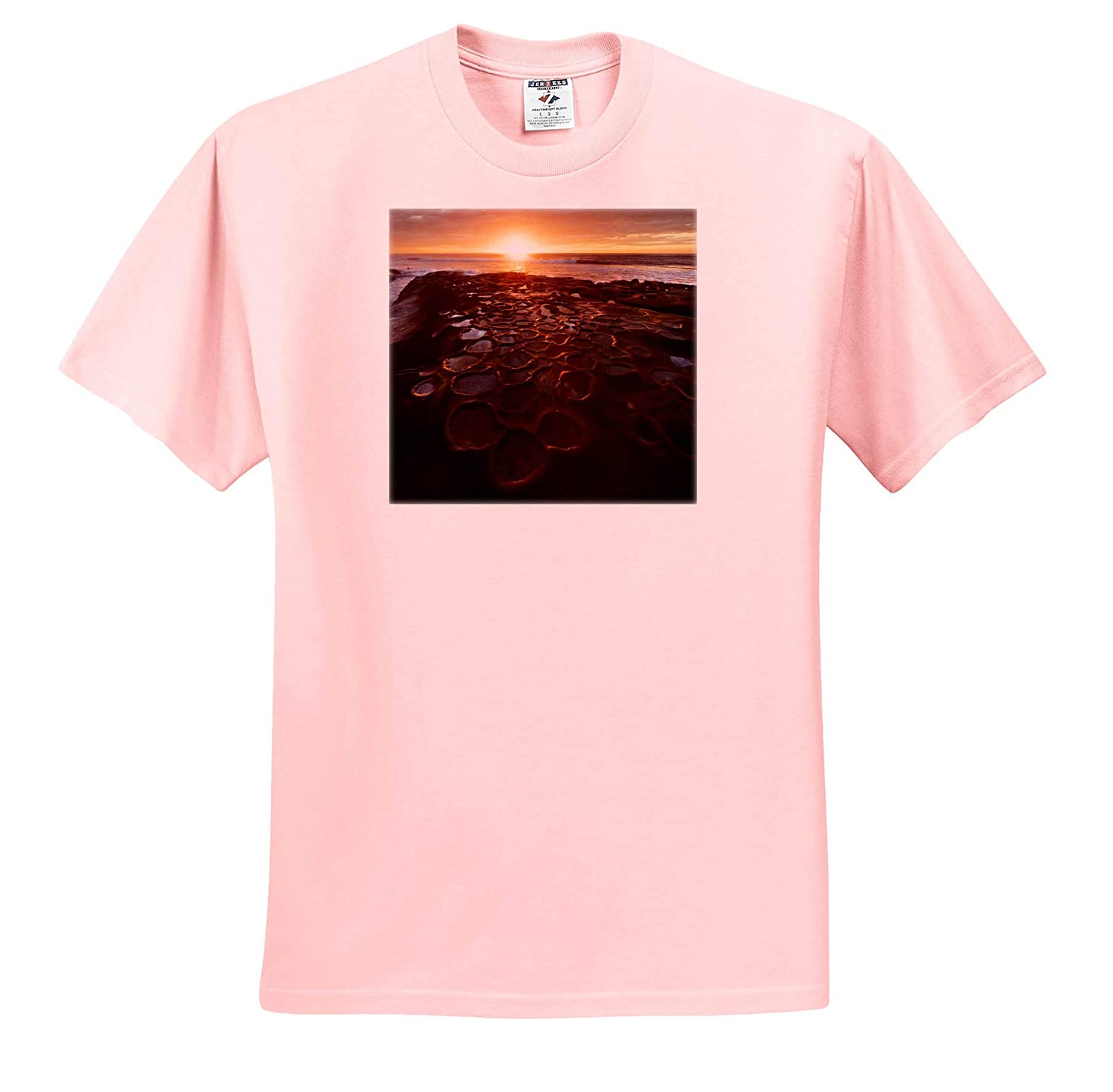 - Adult T-Shirt XL ts/_314639 Sunset Over Tide Pools California 3dRose Danita Delimont La Jolla USA Seascapes