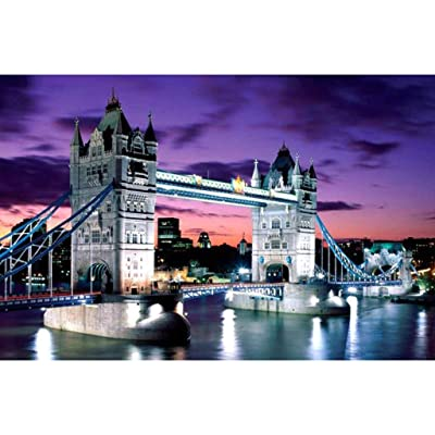 RoadSight Adults/Kids Jigsaw Puzzle Toys, 1000 Pieces Jigsaws Picture Puzzles London Bridge Wooden Assembling Games Educational Toys, Difficult Family Funny Puzzle Games 75×50cm: Toys & Games