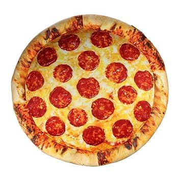 Mostromania Cuscino Rotondo A Forma Di Pizza Pizza Morbida Con