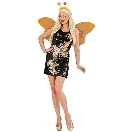 Amakando Disfraz Mariposa - S (ES 36/38) | Vestido de Lentejuelas ...