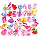 AUCH 24Pcs Cute Cartoon Baby Girls Kids Children Little Princess Ball Hair Tie Bands Ropes Ponytail Holder Elastics, Assorted Color, May Vary form Picture, No Repeated Styles