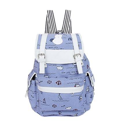 197134d11cab MiCoolker Cute Pure Cartoon School Bag Backpacks for Girls Women Simple  Student Bag Leisure Travel Backpack