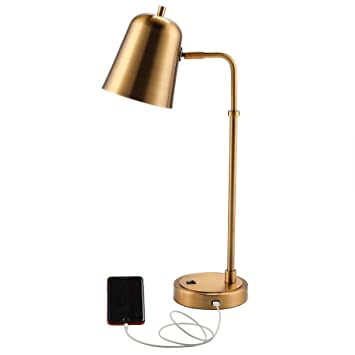 Co Z Gold Desk Lamp 24 Plus Size Antique Brass Finish