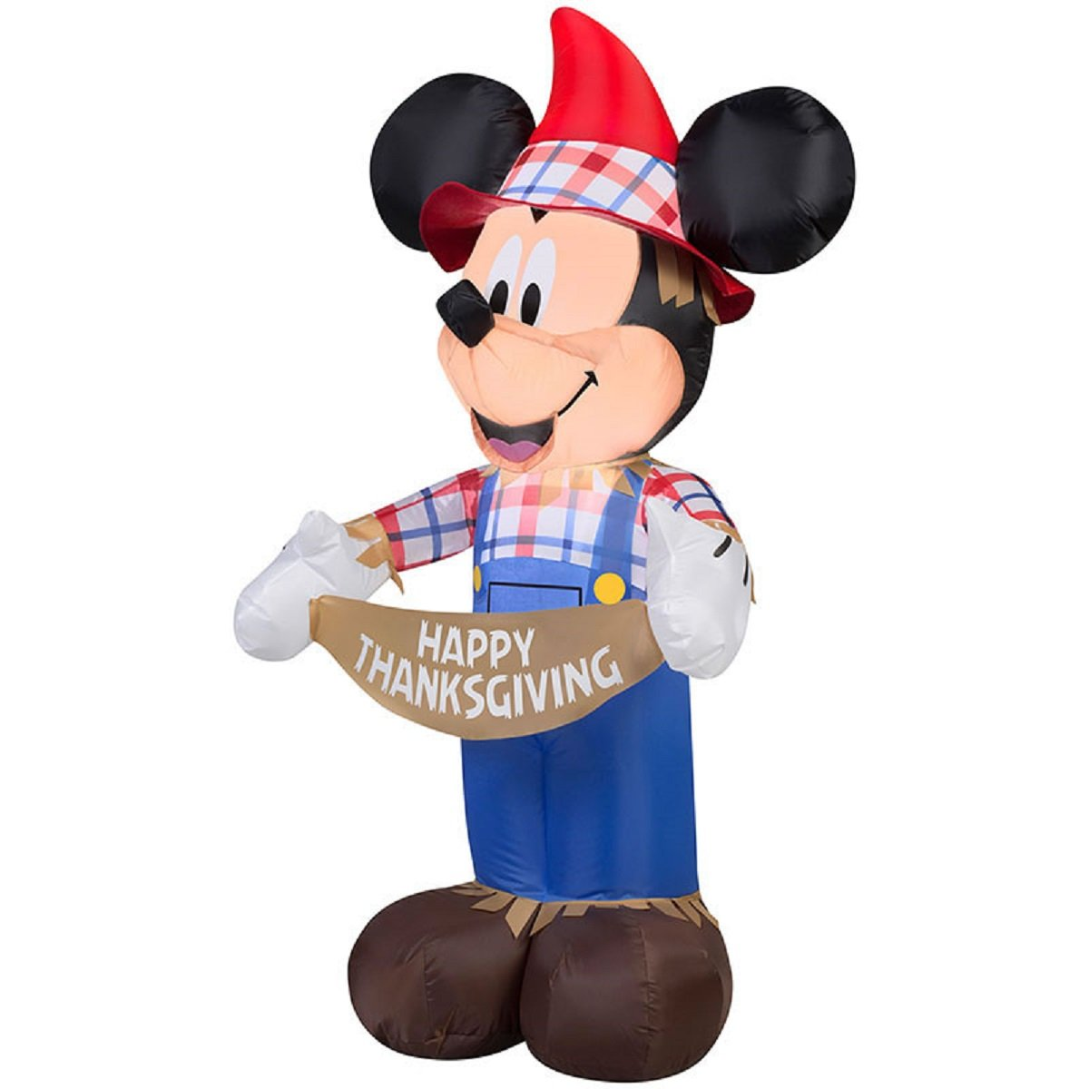 Mickey Mouse Thanksgiving Inflatable 3 8 Foot Scarecrow Airblown