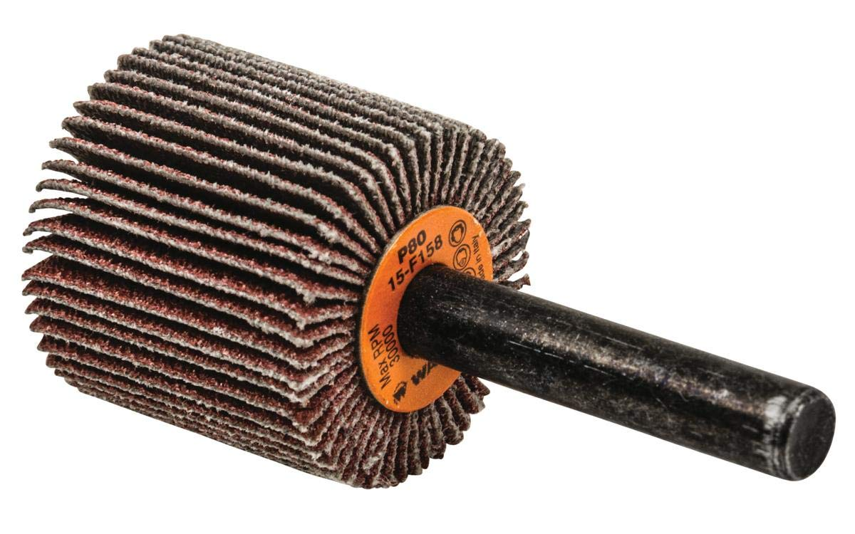 Walter 15F158 COOLCUT Abrasive Flap Wheel - 80 Grit Surface Finishing Wheel with 1 in Diameter Abrasive Wheels and Discs Pack of 10