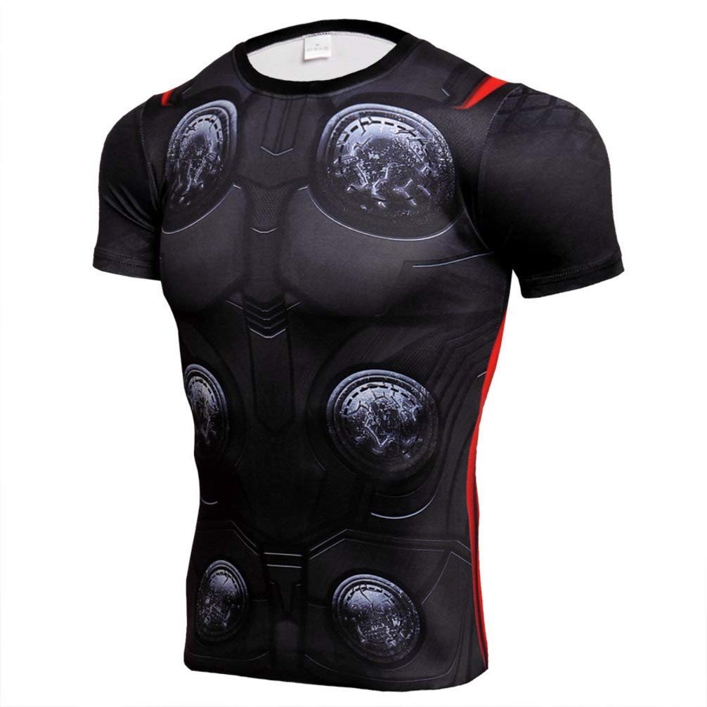 Short Sleeve Slim Fit Compression Shirt Thor Workouts Tee