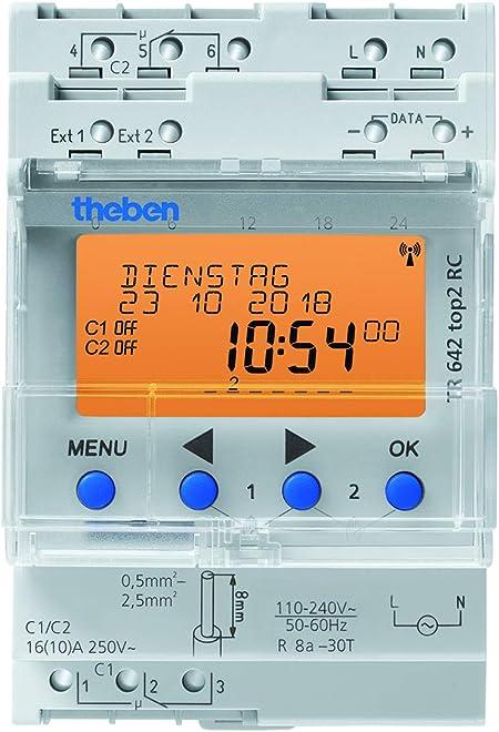 Theben 6410300 Horloge programmable digitale TR 641 TOP2 RC