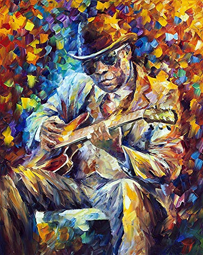John Lee Hooker — Palette Knife Blues Musician Portrait Oil Painting On Canvas By Leonid Afremov