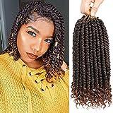 Xuyasu Spring Senegalese Twist Crochet Braids Curly End Havana Mambo Passion Twist Hair Extension 6 Pieces T30