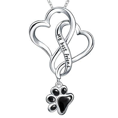 Amazon lovely heart to my best frienddog paw lovely heart to my best frienddog paw925 mozeypictures Gallery