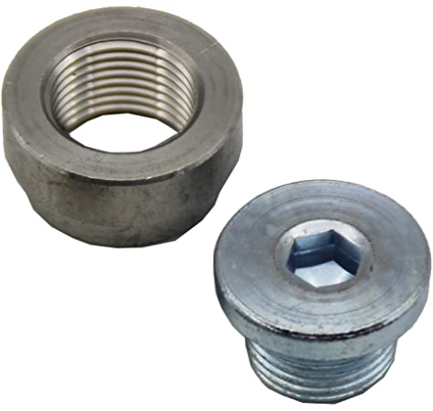 Pack of 2 Joyway Stainless Steel Inner Hex Head Pipe Fitting Plug Oxygen O2 Sensor Bung M18x1.5 Thread