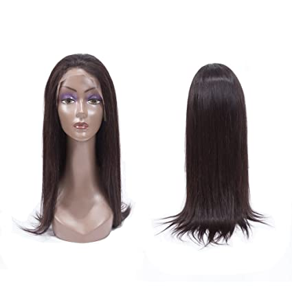 Pelucas de cabello humano para mujeres negras Brasileño virgen recto Bob encaje frente peluca 150%