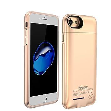 YiYunTE Funda Batería iPhone 6/6S/7 Case Carcasa Con Batería Cargador-Batería Externa Recargable 3000mAh Para iPhone 6/6S/7 (Dorado)