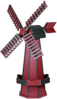 product image for DutchCrafters Decorative Poly Two-Tone Windmill (Large, Cherrywood/Black)