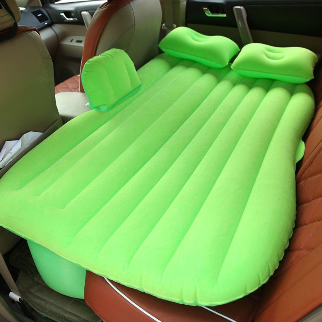 Amazon.com : eDealMax Verde Flocado de aire inflable colchón de la cama de coche cama que se reclina al aire Libre el recorrido que acampa : Sports & ...