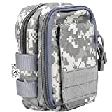 Cheap LefRight Multipurpose Tactical Nylon Molle EDC Utility IFAK Waist Bag Pouch Holster Front Pocket for iPhone X 7 Plus Pixel XL Samsung S9 S7 Edge Moto Z Force Play Combo Detachable Strap (ACU)