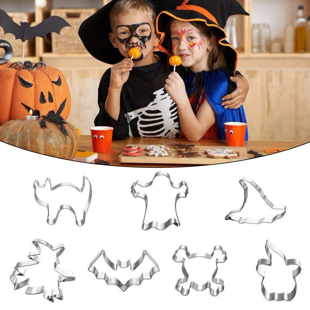 Set di formine per Biscotti Bloomma Mini in Acciaio Inossidabile Formine per Biscotti di Halloween Tagliapasta per muffe per Biscotti per Bambini 7PCS