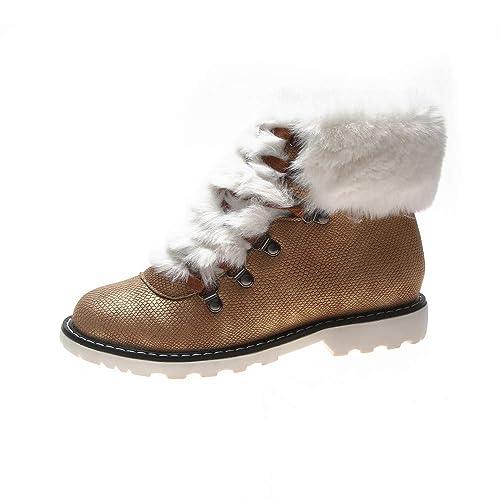 Damen Stiefeletten Winter Warm Schnee Schnee Warm Stiefel Ankle Stiefel Plüsch ... b166f8