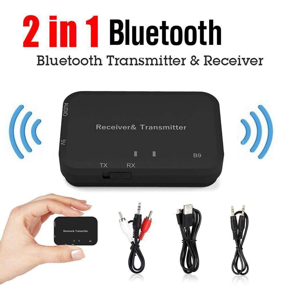Egosola BT Audio Transmitter Receiver Wireless Bluetooth Audio Adapter 3.5mm Stereo 1 Car TV Headphone Wireless Audio Device