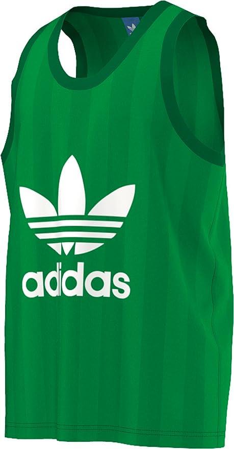 1b3222539cb708 adidas Originals Mens Trefoil Tank Logo Vest - XS  Amazon.co.uk ...