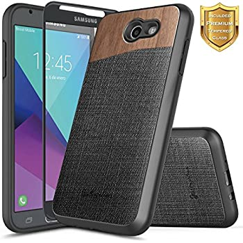 detailed look e7b86 9acaa Amazon.com: Galaxy Express Prime 2/Galaxy Sol 2 Case with [Tempered ...
