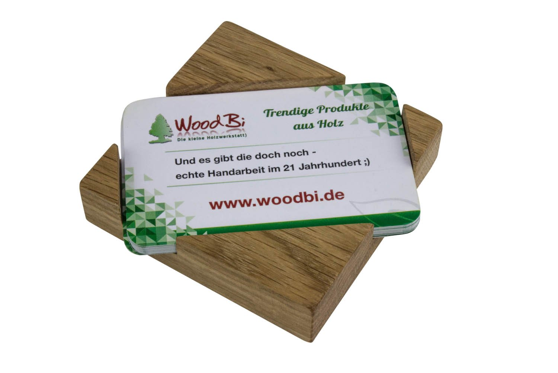 Visitenkartenständer Visitenkartenhalter Aus Holz Akazie