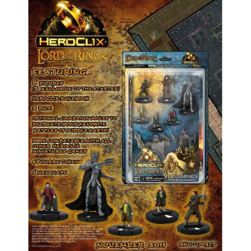(Lord of the Rings Heroclix Starter Set 8 Figures)