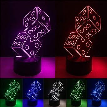 Novedad LED Ilusión 3D Juego Doble Pepino Luz de Noche USB Mesa Táctil 7 Gradiente de Color Fiesta de Regalo para Niños Decoración de Navidad Regalo: Amazon.es: Iluminación