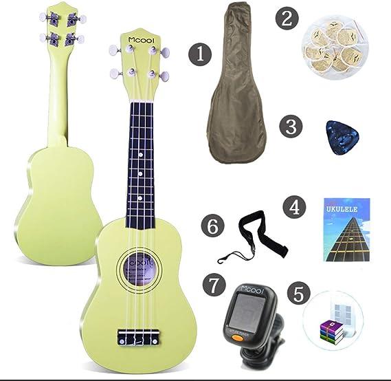 LCDY Ukulele Guitarra de 21 Pulgadas Principiante Estudiante ...
