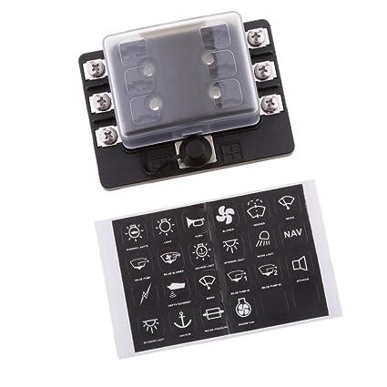 61jFybjKo7L._SX425_ amazon com magideal car boat rv 6 way mini micro blade fuse box