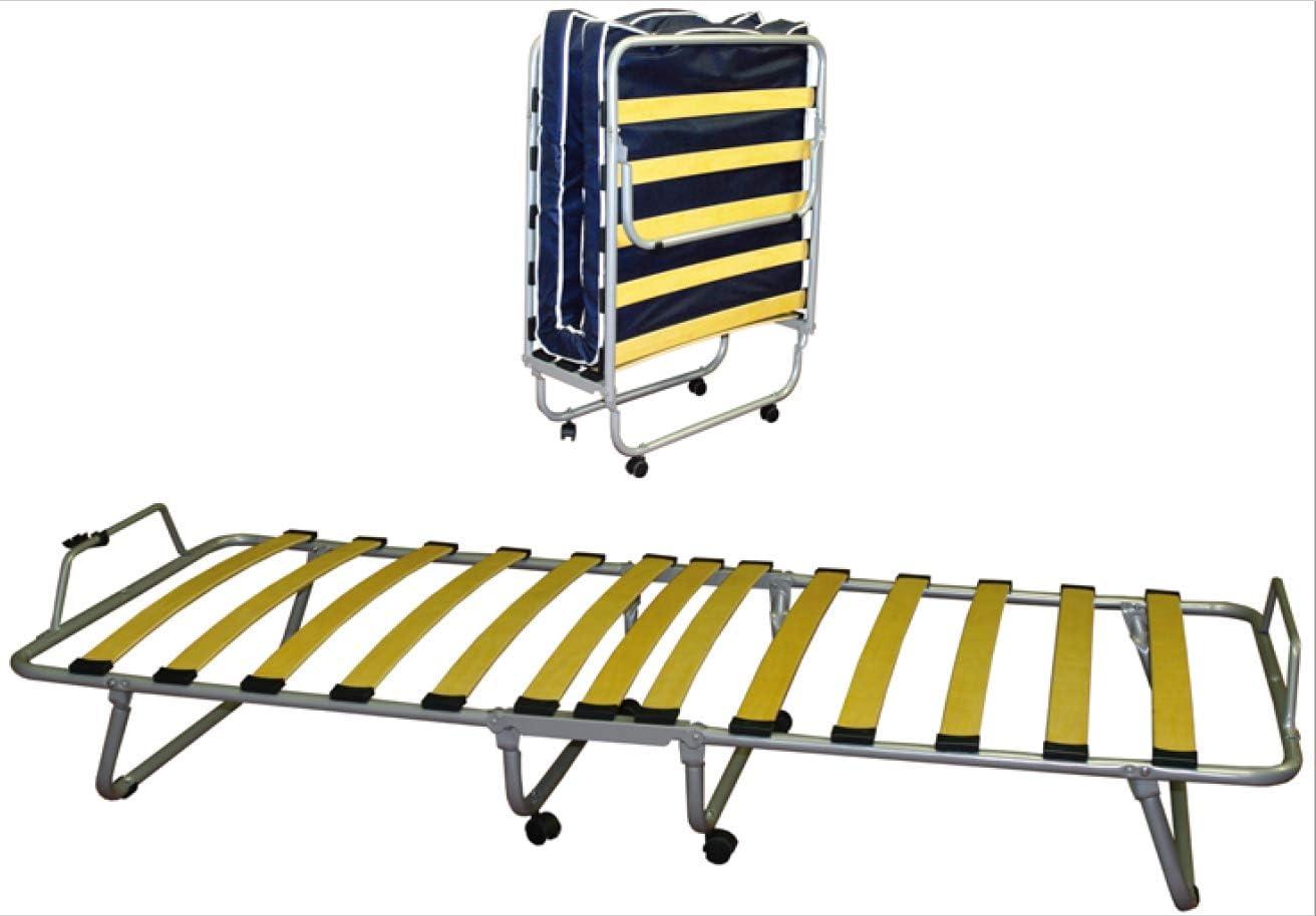 BFLYSHOP Cama Plegable de Invitados 80x190 cm con colchón Individual waterfoam 80 X 190 cm Estable Armadura de Metal