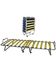 Bflyshop Cama Plegable de Invitados 80x190 cm con colchón Individual waterfoam 80 X 190 cm Estable