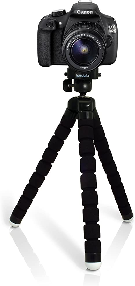 igadgitz Ligera Grande Flexibles Mini Trípode Portátil para Canon ...