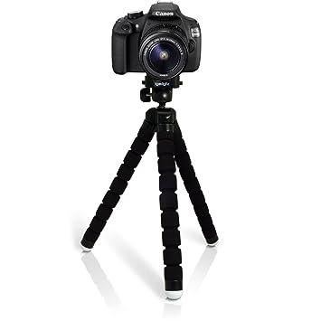 igadgitz Ligera Grande Flexibles Mini Trípode Portátil para Canon EOS SLR DSLR Series Cámaras 450D 550D 550D 600D 650D 700D 750D 760D 100D 1000D 1100D ...