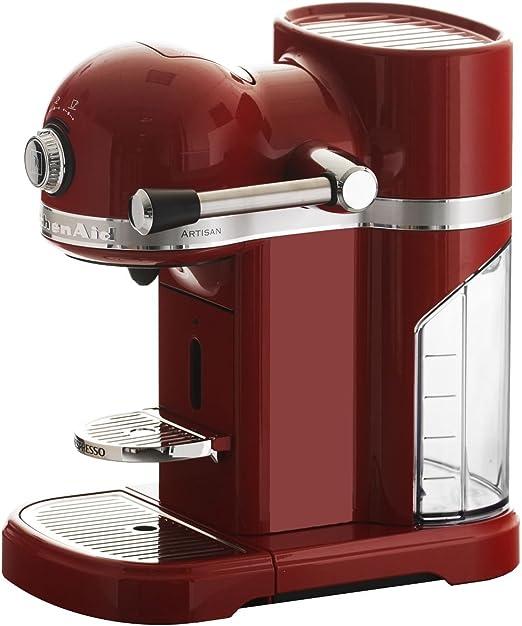 KitchenAid 5KES0503EER/4 - Cafetera Nespresso Artisan, color rojo ...