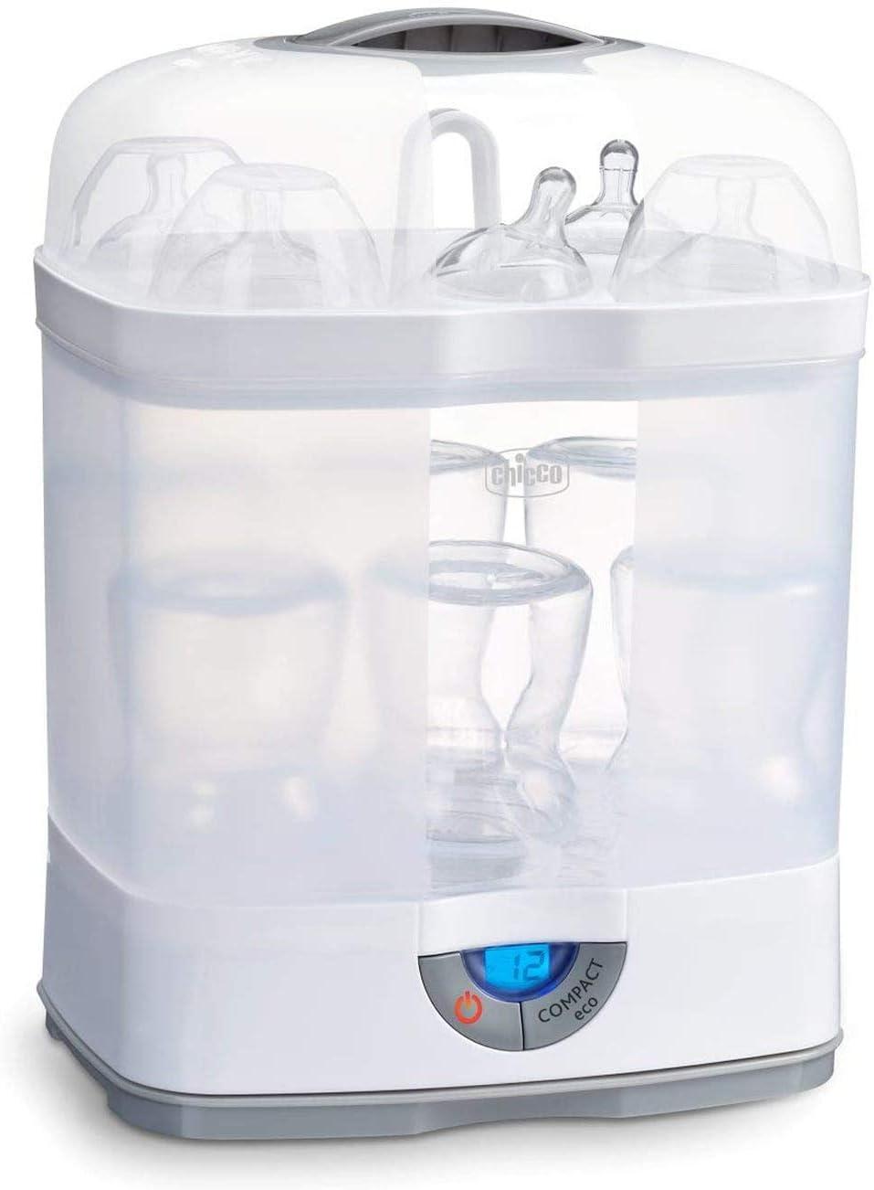 Chicco Steril Natural 3en1 00007391000000 - Esterilizador eléctrico de hasta 6 biberones en 5 minutos