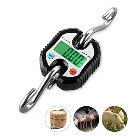 150 kg/300 lb Mini Portable Electronic Scale Digital Hanging Hook Scale Crane scale Balance
