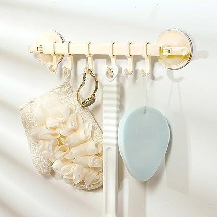Ganchos de ventosa para ducha – 6 ganchos para colgar – extraíble reutilizable para toallas de