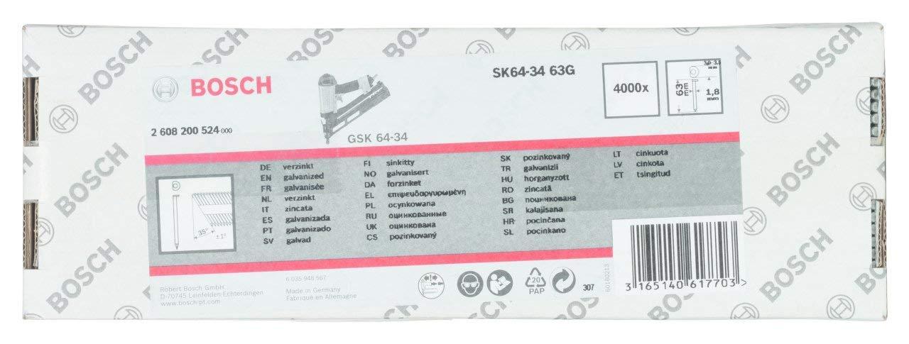 2608200524 verzinkt Bosch Professional Senkkopf-Stift 64-34 63 G 63 mm