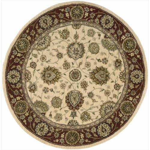 Nourison Nourison 2000 (2204) Ivory Round Area Rug, 4-Feet by 4-Feet  (4' x ()
