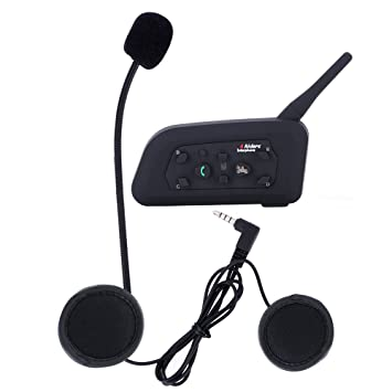 V6 1200 m Casco de la motocicleta bt Intercom Bluetooth 6 Riders Interphone auriculares intercomunicadores de