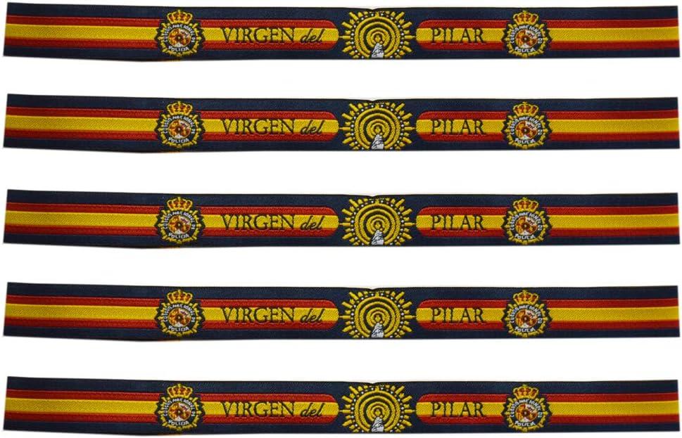 ALBERO 5 x Pulsera Policía Nacional Virgen del Pilar. 29 x 1.50 cm: Amazon.es: Deportes y aire libre