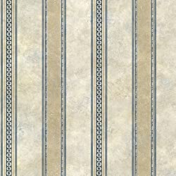 Chesapeake SRC76198 Castine Tuscan Stripe Wallpaper, Blue