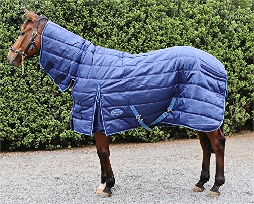 """Barnsby Equestrian Horse Stable Rug/Blanket with Neck Combo - 420 Denier with 100g Fill Navy 63"""""""