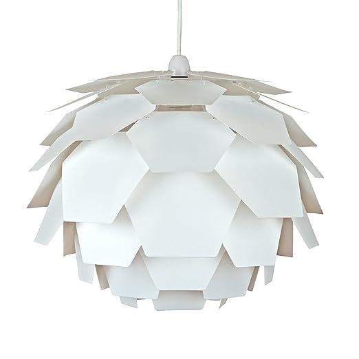 Modern white designer artichoke ceiling pendant light shade amazon modern white designer artichoke ceiling pendant light shade mozeypictures Images