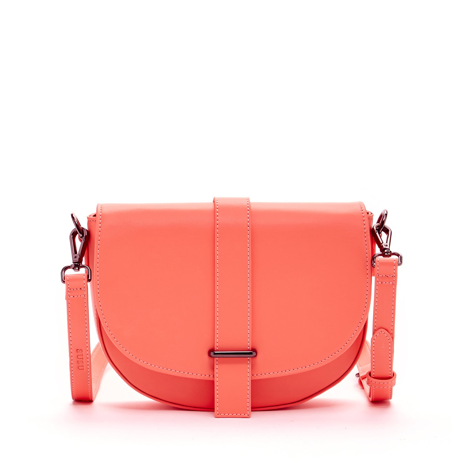 7ebd7d323 Coral Crossbody Bags For Women Leather Saddle Bag Crossover Purse Handbags  and Purses Cute Cross body Designer Peach Pink Across body Saddlebag For  Travel ...
