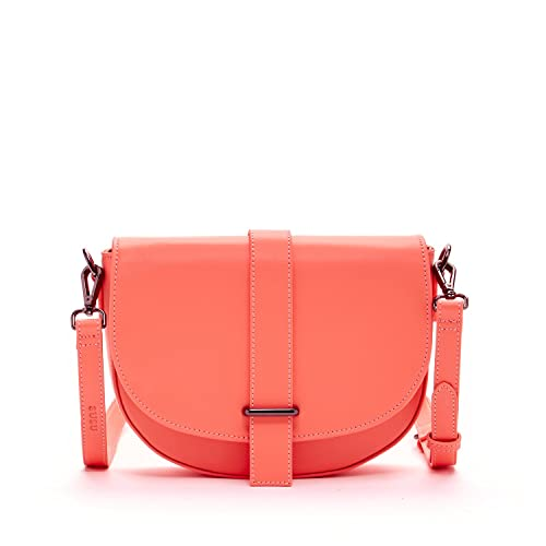 Coral Crossbody Bags For Women Leather Saddle Bag Crossover Purse Handbags  and Purses Cute Cross body f3c7f42734f0e